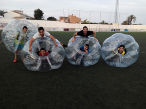 bubble football javea